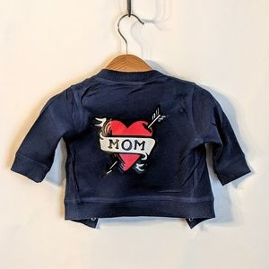 Infant Jersey Jacket with Mom Tattoo OOAK